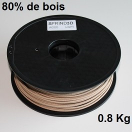 Filament 3d SPRINT3D-WOOD CLAIR 3 mm