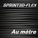 Filament 3d flexible NOIR 1.75 mm SPRINT3D-FLEX (au mètre)