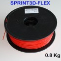 Filament 3d flexible ROUGE 3 mm SPRINT3D-FLEX